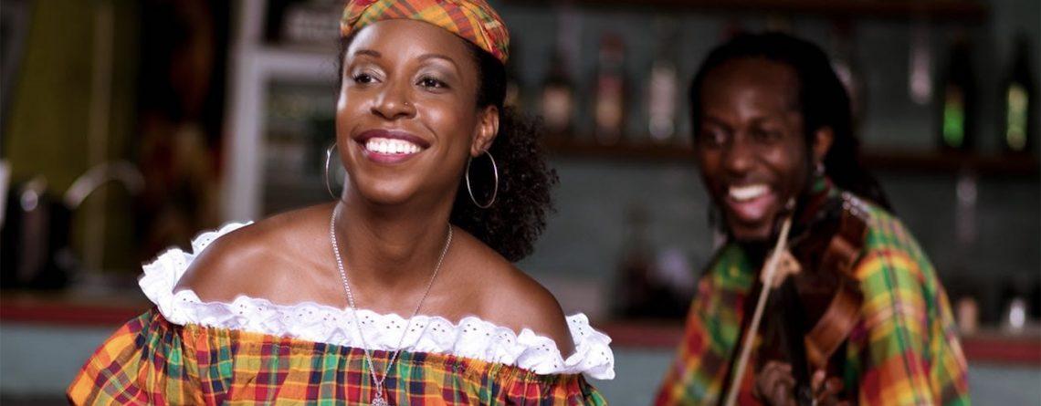 creole woman wearing madras