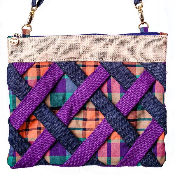 burlap lattice purple