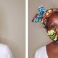 black woman in african print headwrap